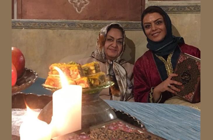 حافظ خوانی هنرمند عزیز خانم شبنم فرشادجو و سرکار خانوم جزایری در جشن یلدای سرای عامری ها